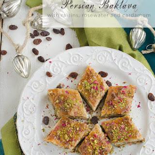 Persian Baklava with Raisins, Pistachios and Almonds Recipe