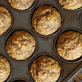 One Bowl Banana Nut Muffins (whole wheat and GF versions)