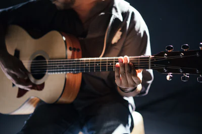 A picture of someone playing a guitar: Charity Single