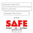Fire Alarm Battery Size Calculator