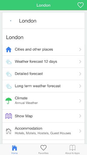 伦敦的天气,预报气候天气,气候预测