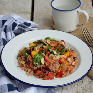 Spelt Couscous with Roasted Vegetables.