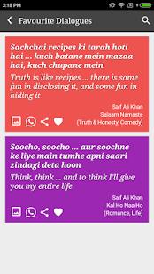Saif Ali Khan Filmy Dialogues - náhled