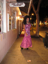 """Photo: Drag queen on Duval Street. """"They pay me to dress like a woman."""""""