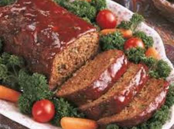 Sauce Covered Meatloaf...i Don't Usually Add All The Pretty Garnish Unless I Am Entertaining.