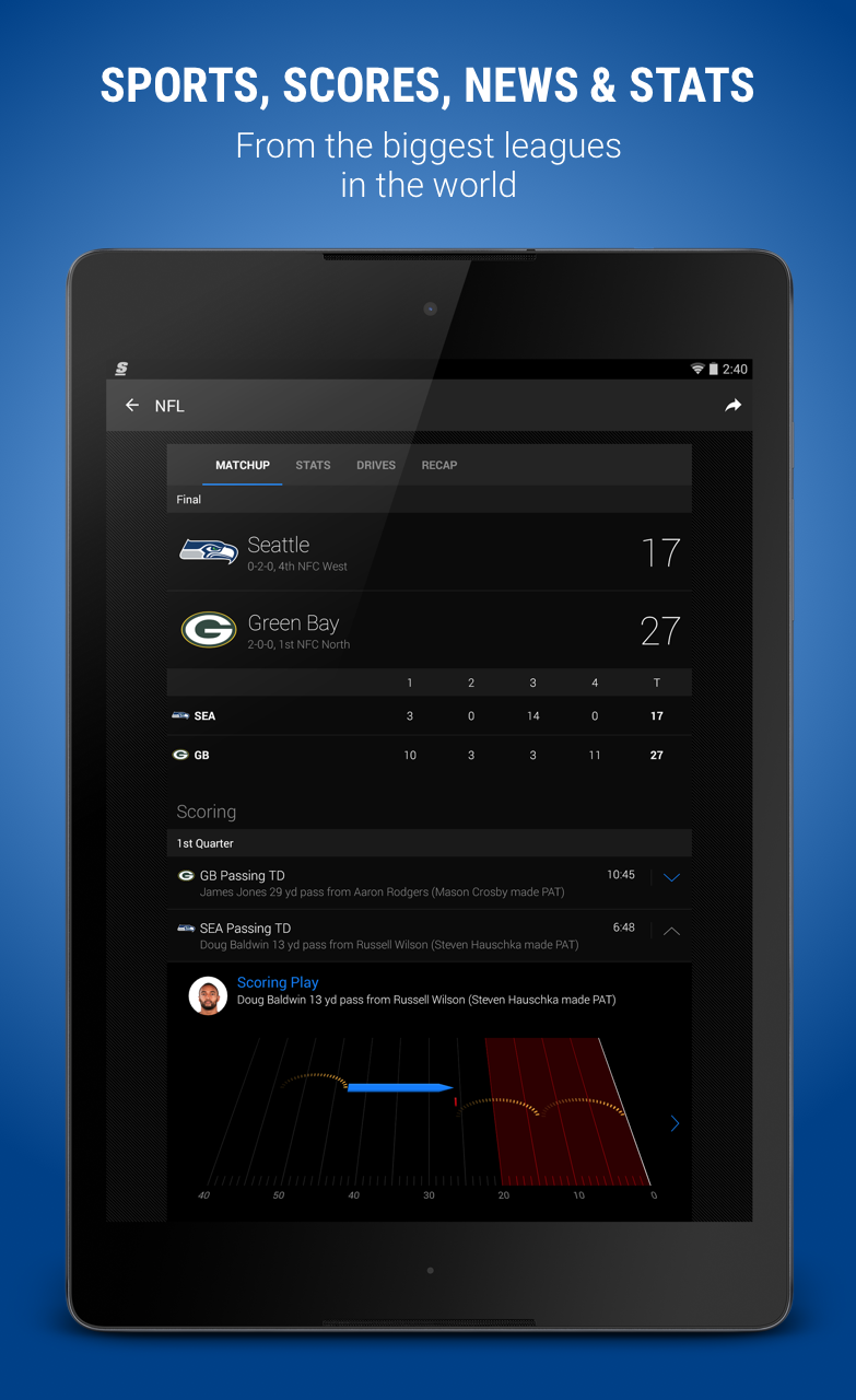 theScore: Sports Scores & News screenshot #8