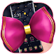 Black Leather Pink Bowknot Theme Download on Windows