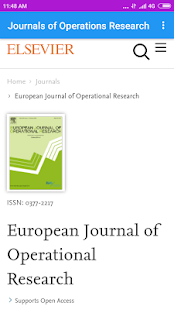 List of The Journals of Operations Research - náhled