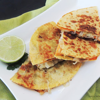 Black Bean, Sweet Potato, & Sauerkraut Quesadilla