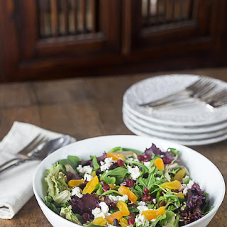 Spinach Arugula Salad with Pomegranate Dressing Recipe