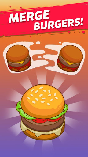 Merge Burger: Food Evolution Cooking Merger apkpoly screenshots 1