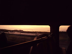 Photo: 夕日が綺麗でした!