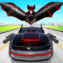 Flying Bat Robot Car Game icon