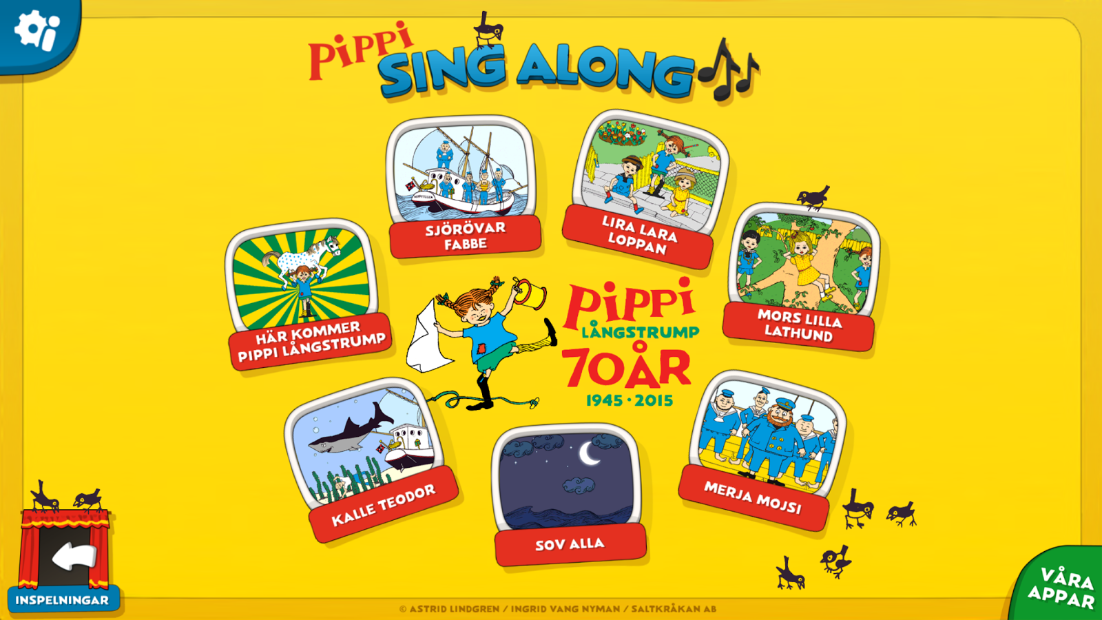 Pippi Sing Along- screenshot