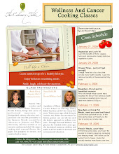 Photo: The Culinary Table - Created Flyer for Wellness and Cancer Cooking Classes
