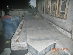 Photo: GF Stairs, marbled - hope they come out fine !- D-41, P-3 GNOIDA, Built by Nanak Builders, Mr. Virender Batra
