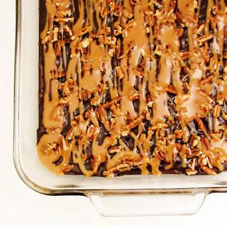 Turtle Poke Brownies