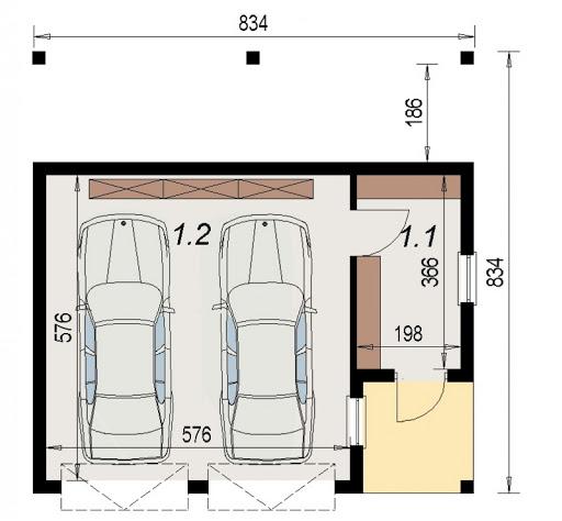AD-G3.77 - Rzut garażu