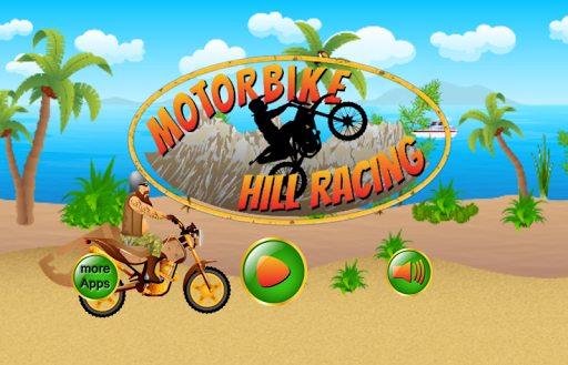 Motorbike Hill Race Kids Games