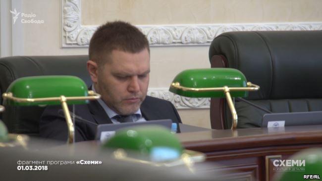 Олексій Маловацький на засіданні Вищої ради правосуддя, членом якої він є