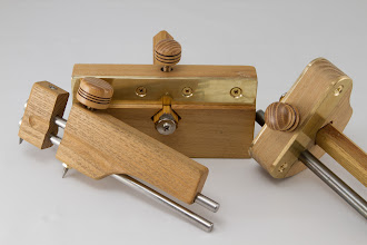 "Photo: Bert Bleckwenn 1"" x 1"" knobs for home made inlay tools [Osage orange]"