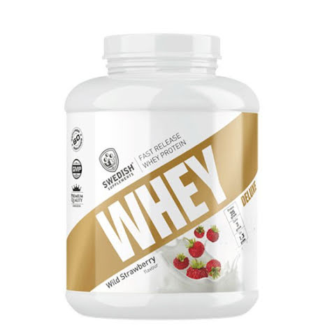 Swedish Supplements Whey Protein Deluxe 2kg - Wild Strawberry
