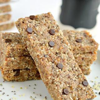 Almond Chia Hemp Flax Bars {GF, Low Cal, Vegan}