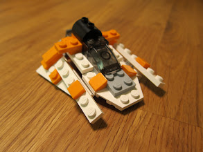 Photo: Snowspeeder.  This was the first non-instructed model I built with these pieces.  I thought the shapes and color scheme were close enough to this craft to try it out, and I was inspired to keep building new things from there.