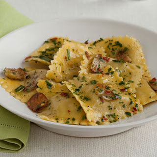 Ravioli with Garlic-Herb Oil