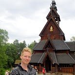 stave church from 1200 in Oslo in Oslo, Oslo, Norway