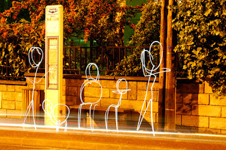 Photo: Bus Stop - Light painting by Christopher Hibbert, french photographer and light painter. Further information: http://www.christopher-hibbert.com