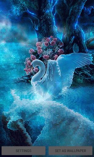 Blue Swan Live Wallpaper screenshots 1
