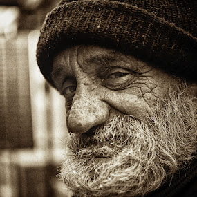 Life is hard... by Jasna Petrovic-Zivkovic - People Portraits of Men