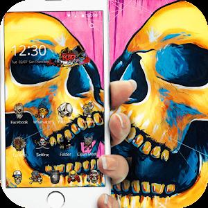 Colorful Skull Graffiti