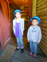 Photo: Get those helmets on and let's explore the mine.