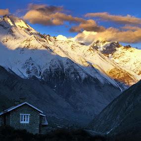 Mountain house by Soumen  Basu Mallick - Landscapes Mountains & Hills