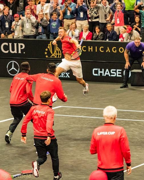 Laver Cup 2018 Chicago  Or, Nobody Beats Federer in 5 Tiebreaks in One Weekend!  That old Vitas Gerulaitis...