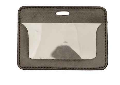 Plastficka horisontell, 95x56 mm, läderficka