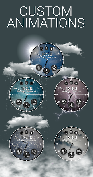 Real Weather Watch Face Reborn Android App Screenshot