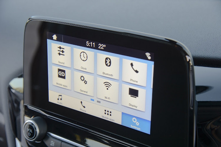The Sync 3 infotainment system works well. Inside the layout is simpler with a floating touchscreen. Picture: QUICKPIC