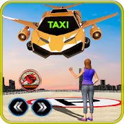 Future Flying Robot Car Taxi Cab Transport Games