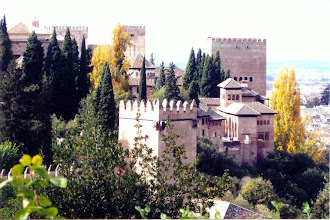 Photo: The Alhambra is a fortified castle built by the Moors, conquered by the Christians in 1492.