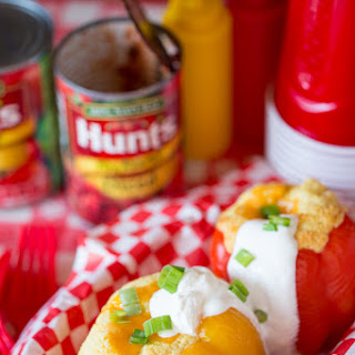 Cheesy Tex-Mex Cornbread Stuffed Peppers