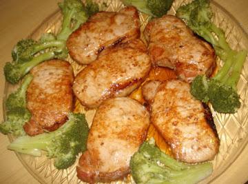 Teriyaki Garlic Grilled Pork Chops, Chuletas Asadas Al Ajillo Y Salsa Teriyaki Recipe