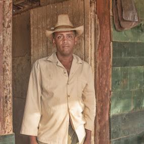 Cuban cowboy by Bill Dickson - Uncategorized All Uncategorized ( cowboy, sad, male, cuba,  )