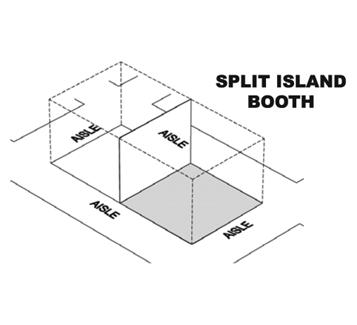 Split Island Booth