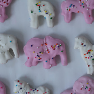 Pink and White Frosted Circus Animal Crackers