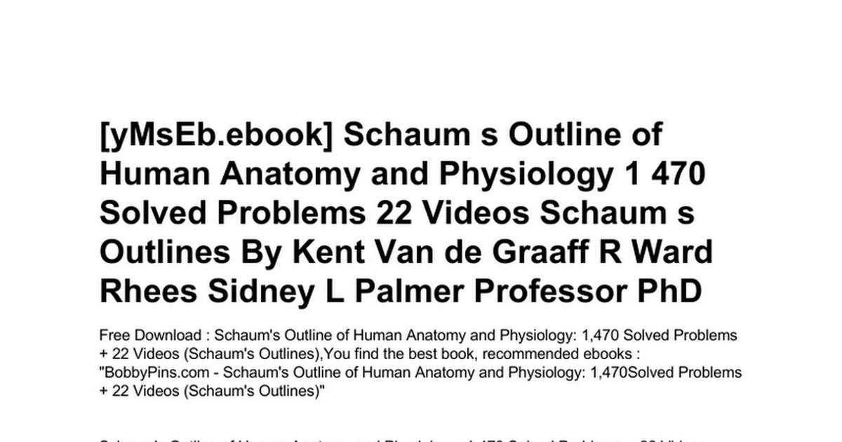 Ungewöhnlich Human Anatomy And Physiology Book Download Galerie ...