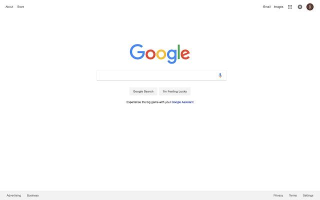 Clean Up Google Homepage