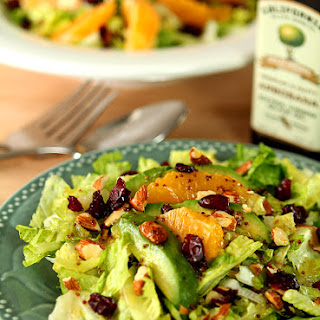 Avocado and Orange Chopped Salad with Orange Honey Mustard Dressing